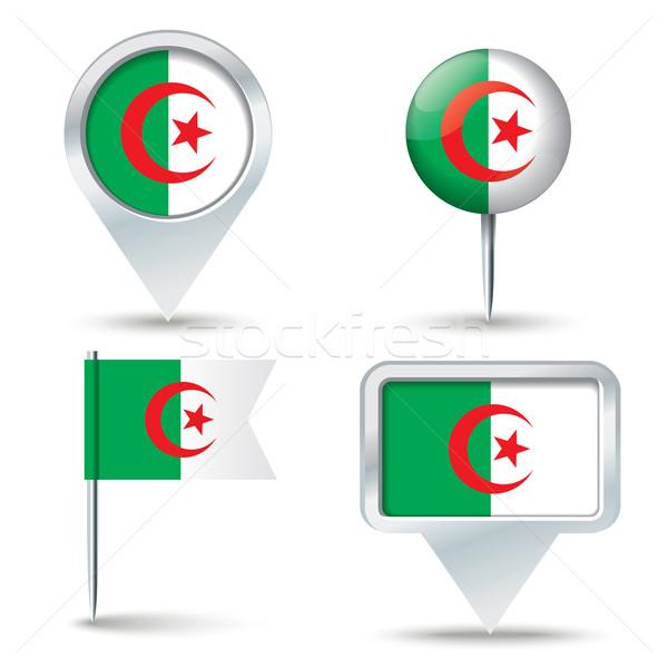 карта флаг Алжир бизнеса дороги белый Сток-фото © ojal