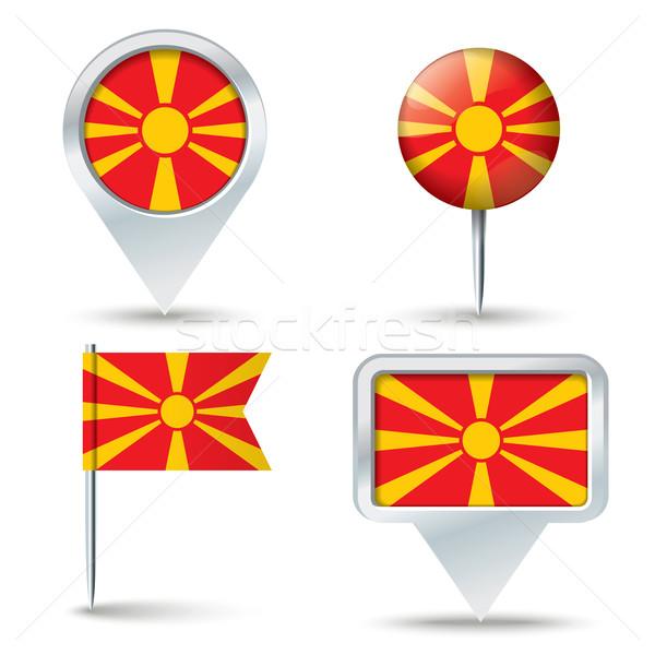 карта флаг Македонии бизнеса дороги белый Сток-фото © ojal