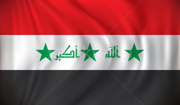 Bandeira Iraque projeto fundo arte vermelho Foto stock © ojal