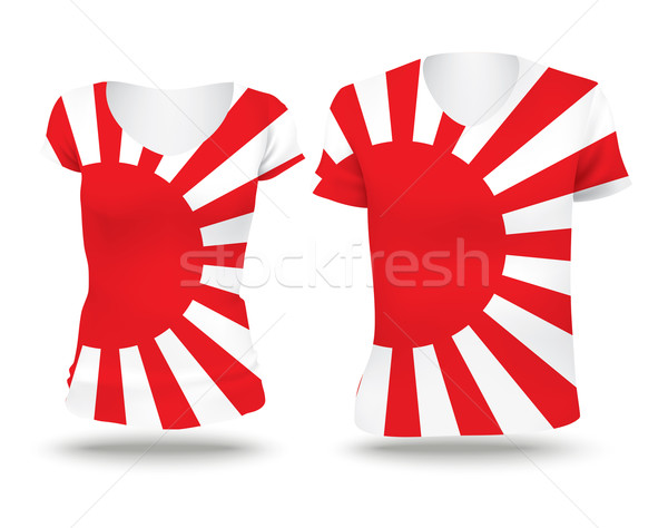 Japanese Naval flag shirt design Stock photo © ojal