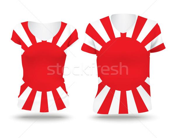 日本語 戦争 フラグ シャツ デザイン 女性 ストックフォト © ojal