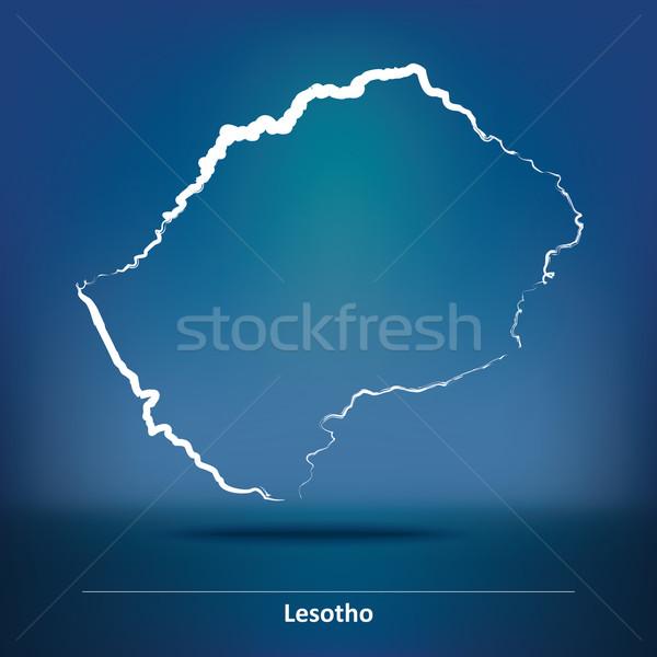 Gryzmolić Pokaż Lesotho tekstury projektu podróży Zdjęcia stock © ojal