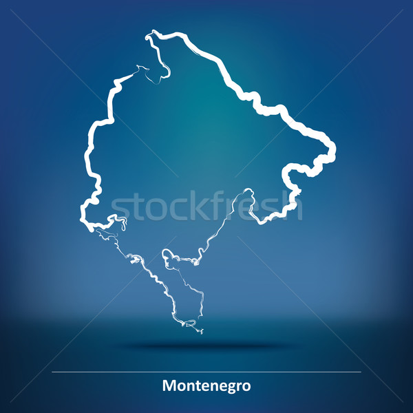 болван карта Черногория морем фон знак Сток-фото © ojal