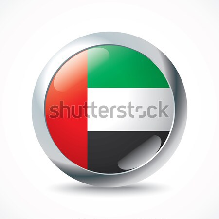 Объединенные Арабские Эмираты флаг кнопки фон знак зеленый Сток-фото © ojal