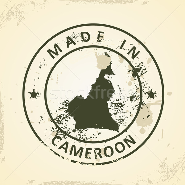 Stamp with map of Cameroon Stock photo © ojal