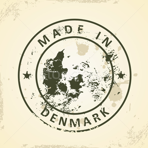 Sello mapa Dinamarca grunge resumen mundo Foto stock © ojal
