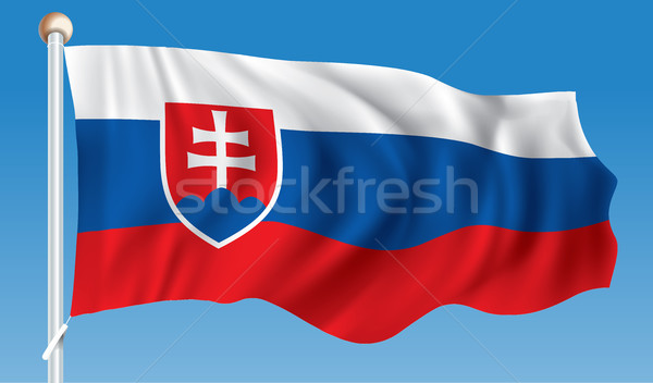 Flag of Slovakia Stock photo © ojal