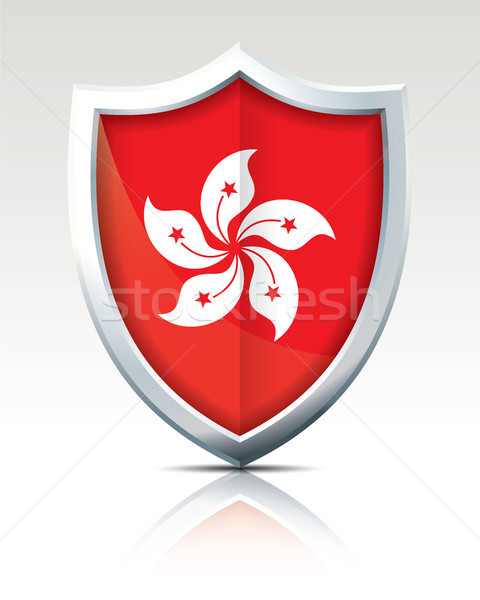 Shield with Flag of Hong Kong Stock photo © ojal