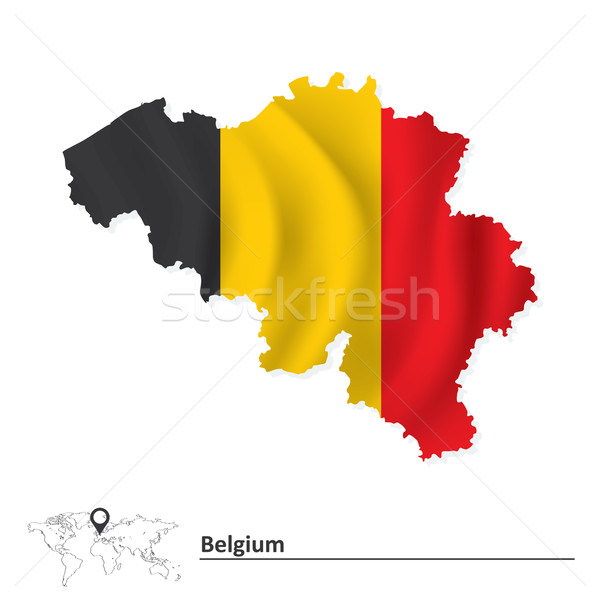 Map of Belgium with flag Stock photo © ojal