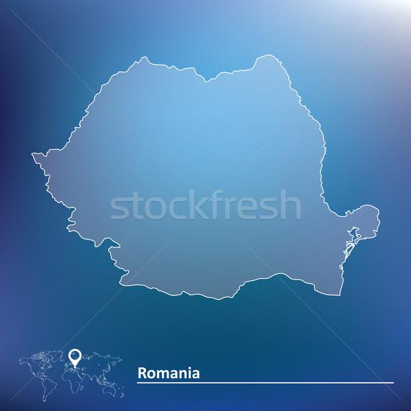 Map of Romania Stock photo © ojal