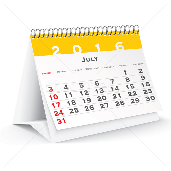July 2016 desk calendar Stock photo © ojal