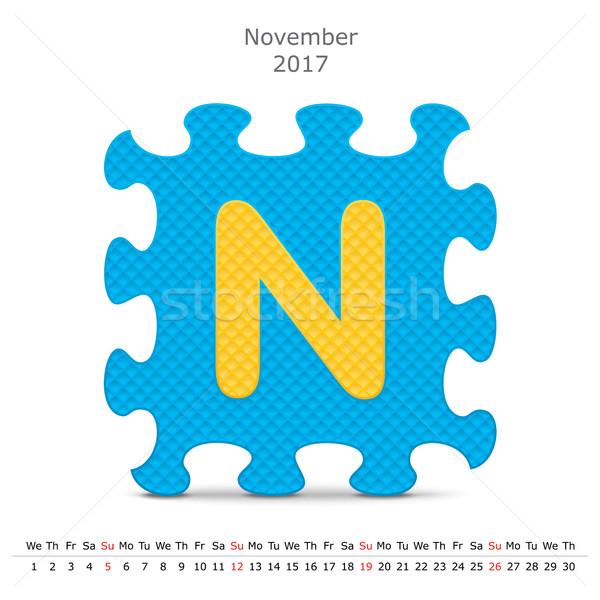 November 2017 puzzle calendar Stock photo © ojal