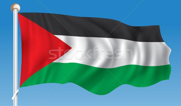 Banderą zachód banku Pokaż kraju Zdjęcia stock © ojal