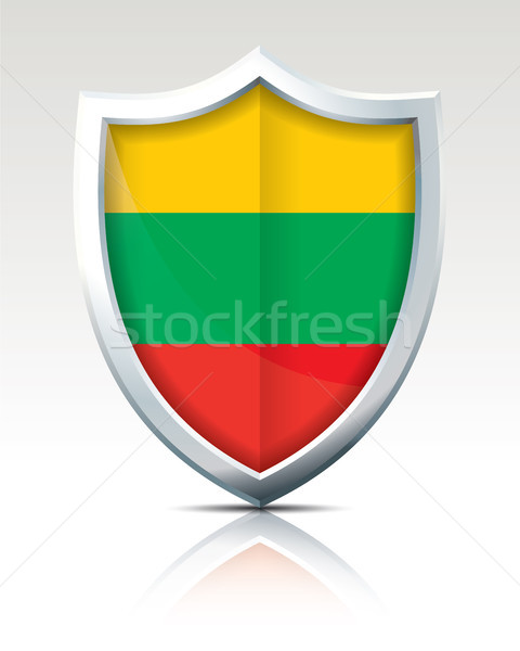 Schild vlag Litouwen textuur kaart abstract Stockfoto © ojal