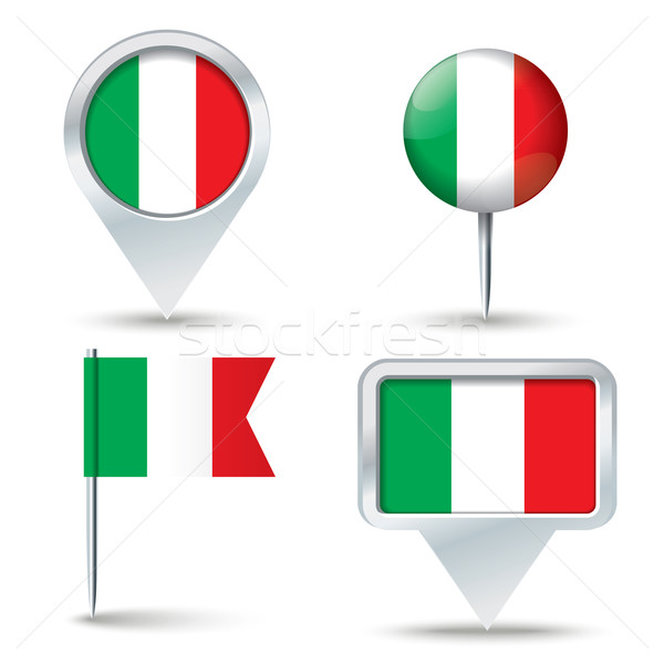 Map pins with flag of Italy Stock photo © ojal