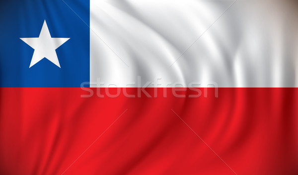 Zászló Chile textúra térkép absztrakt világ Stock fotó © ojal