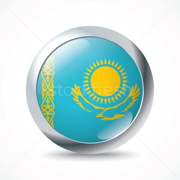 Kasachstan Flagge Taste Textur Hintergrund Reise Stock foto © ojal