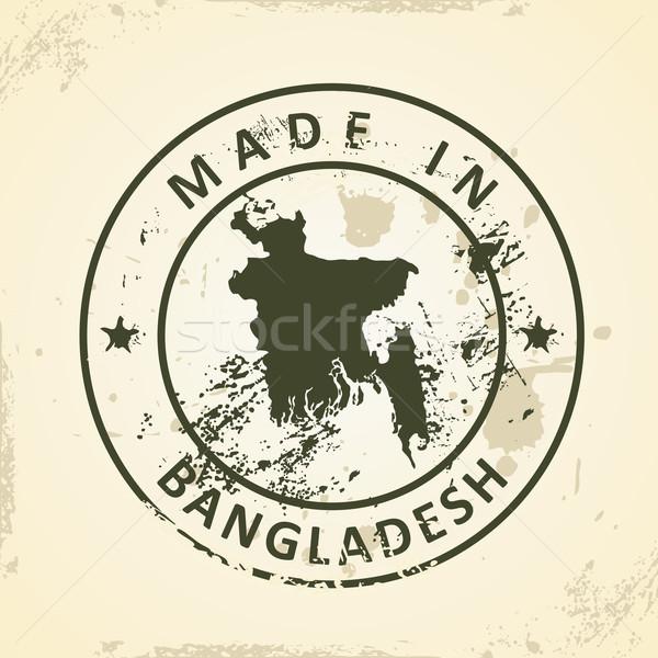 Bélyeg térkép Banglades grunge üzlet művészet Stock fotó © ojal