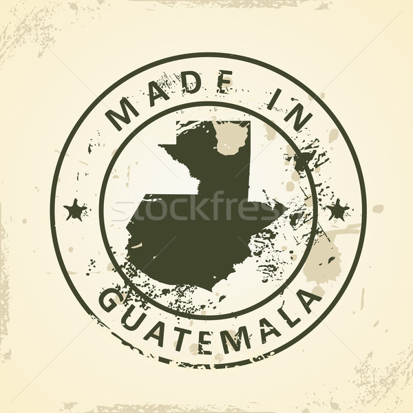 Stamp with map of Guatemala Stock photo © ojal