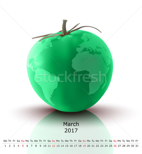 March 2017 tomato calendar Stock photo © ojal