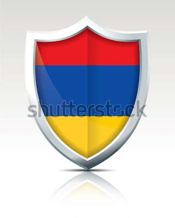щит флаг Армения карта искусства знак Сток-фото © ojal