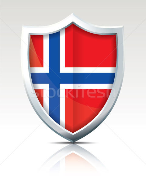 Shield with Flag of Jan Mayen Stock photo © ojal