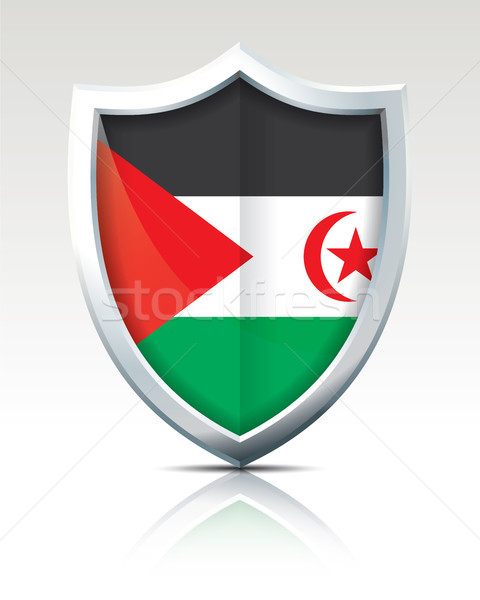 Shield with Flag of Western Sahara Stock photo © ojal