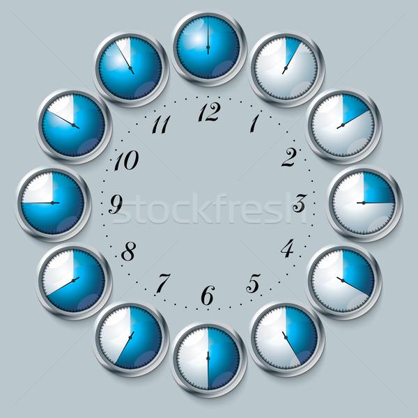 набор вектора стороны часы спорт металл Сток-фото © ojal