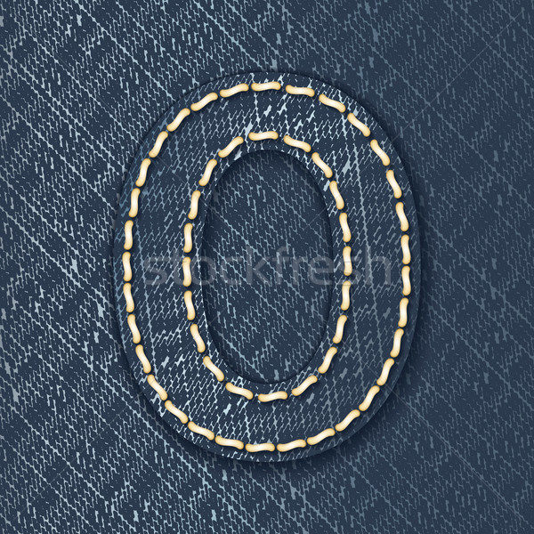 Number 0 made from jeans fabric Stock photo © ojal