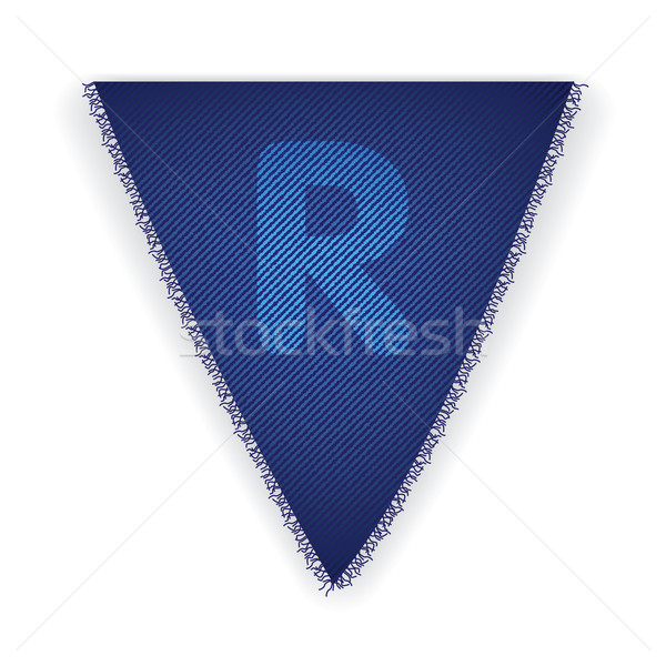 Bunting flag letter R Stock photo © ojal