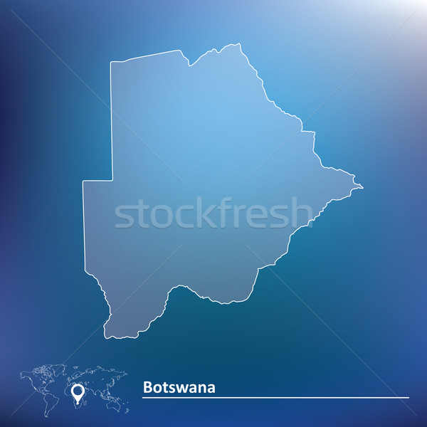 Map of Botswana Stock photo © ojal