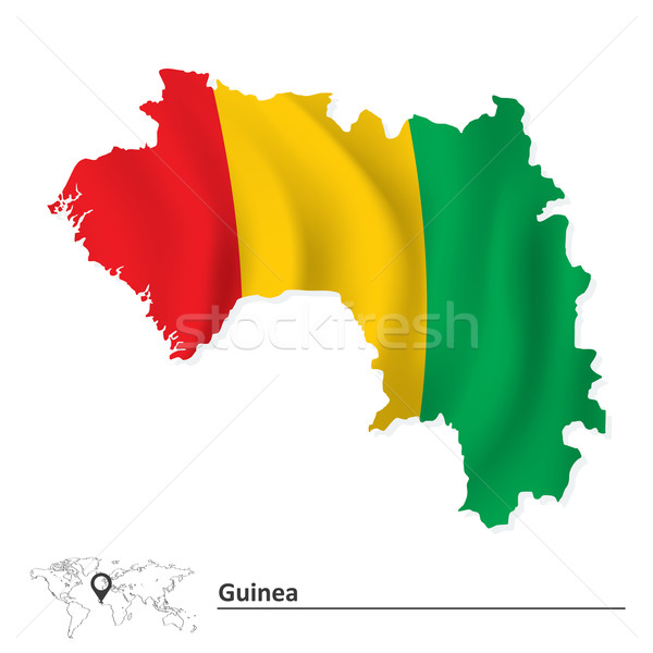 Map of Guinea with flag Stock photo © ojal