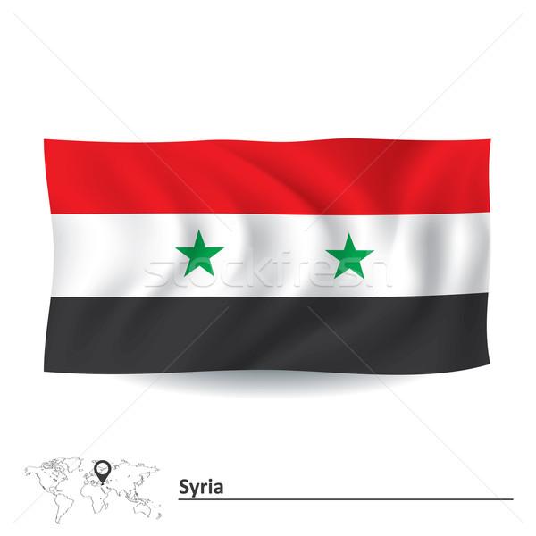 Vlag Syrië wereld achtergrond star zwarte Stockfoto © ojal