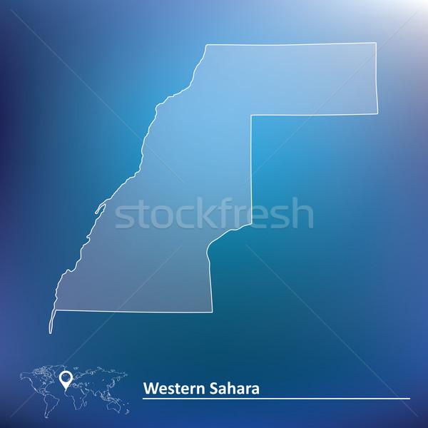 Kaart westerse sahara reizen afrika grafiek Stockfoto © ojal