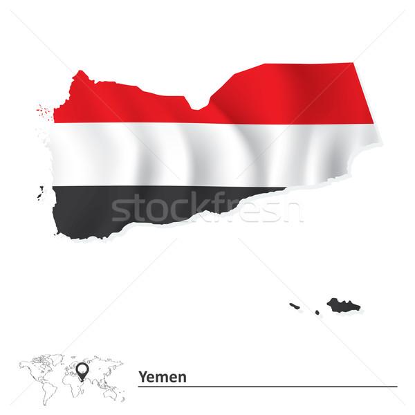 Mapa Iémen bandeira abstrato projeto fundo Foto stock © ojal