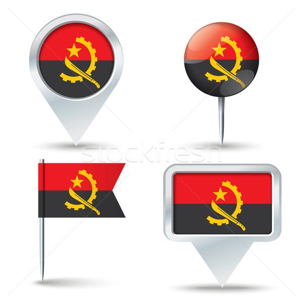 карта флаг Ангола бизнеса дороги белый Сток-фото © ojal