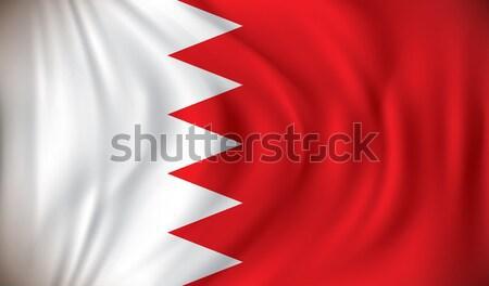Bandeira Bahrein projeto arte assinar viajar Foto stock © ojal