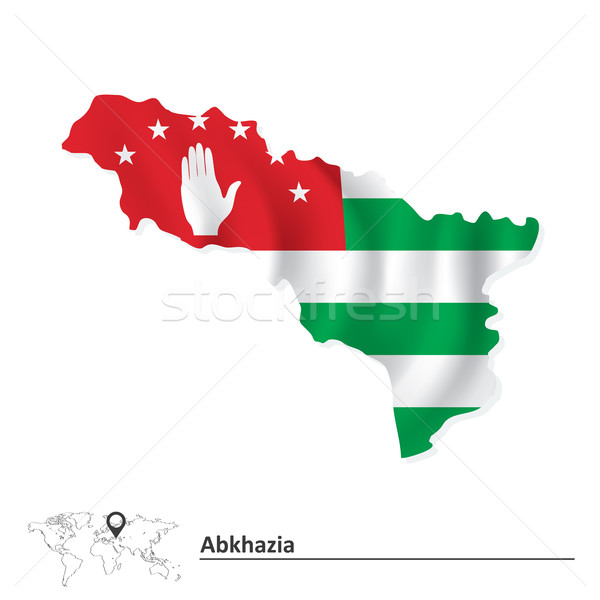Map of Abkhazia with flag Stock photo © ojal
