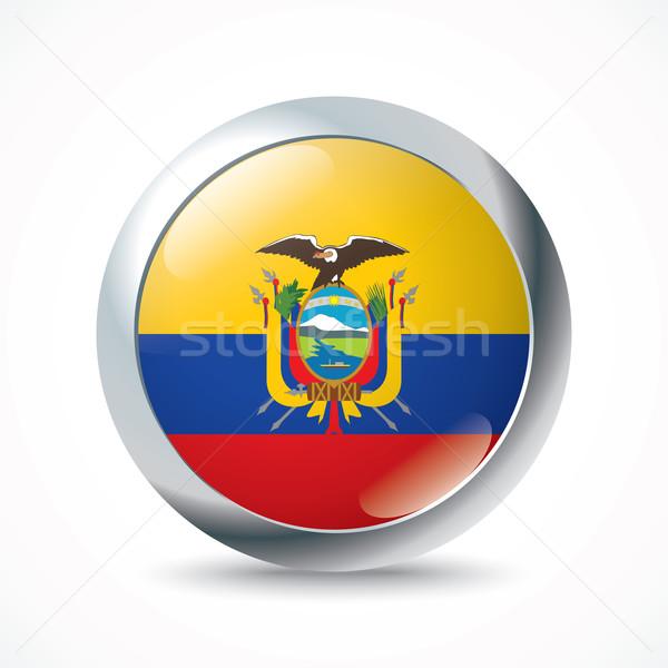 Ecuador vlag knop wereld achtergrond kunst Stockfoto © ojal