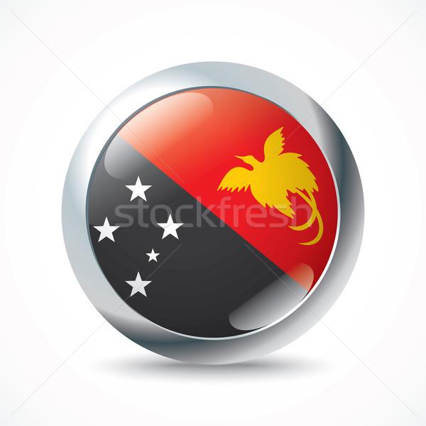 パプアニューギニアの フラグ ボタン にログイン 旅行 色 ストックフォト © ojal