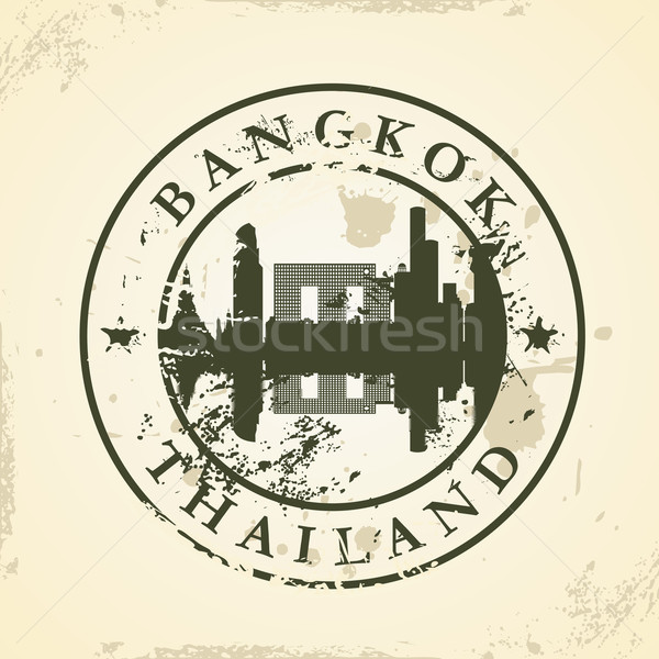 Grunge rubber stamp with Bangkok, Thailand Stock photo © ojal