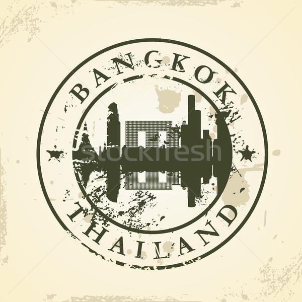 Grunge Bangkok Tayland Bina güvenlik Stok fotoğraf © ojal