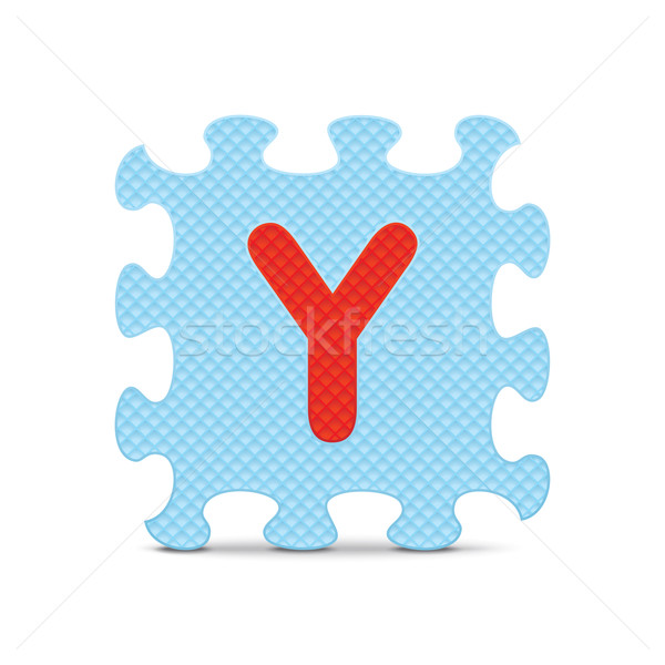 Vector letter 'Y' written with alphabet puzzle Stock photo © ojal