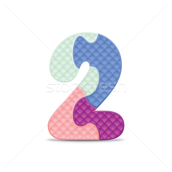 Vector number 2 written with alphabet puzzle Stock photo © ojal