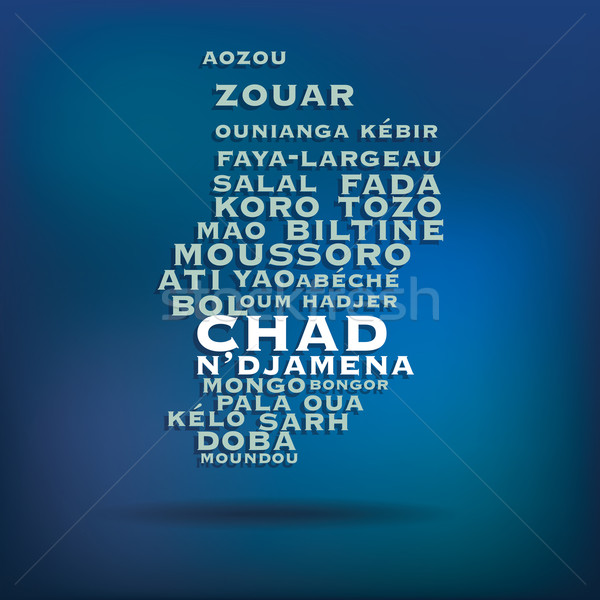 Zdjęcia stock: Chad · Pokaż · nazwa · miasta · streszczenie · świat