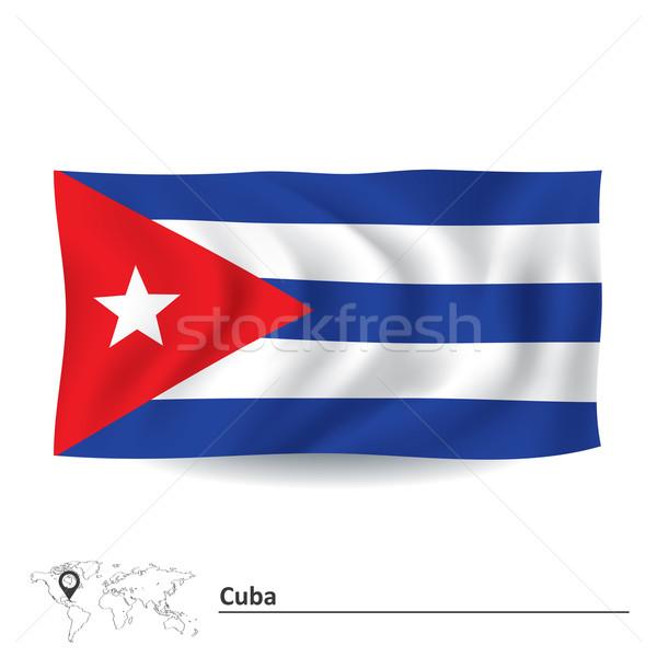флаг Куба текстуры фон искусства знак Сток-фото © ojal