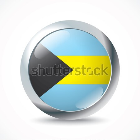 Bahamas flag button Stock photo © ojal