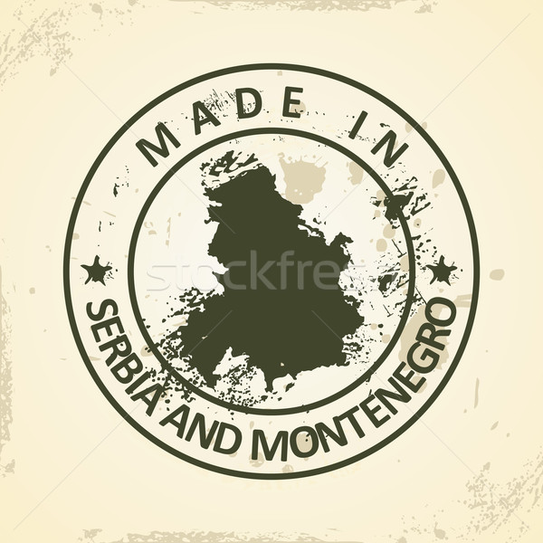 Stamp with map of Serbia and Montenegro Stock photo © ojal