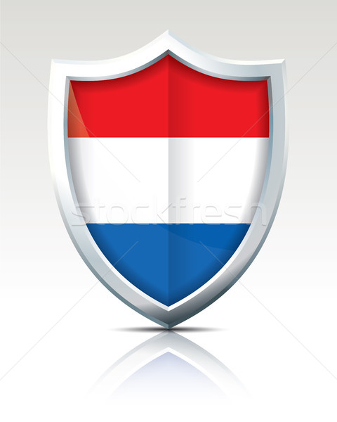 Shield with Flag of Netherlands Stock photo © ojal