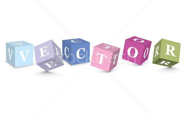 Word VECTOR written with alphabet blocks Stock photo © ojal